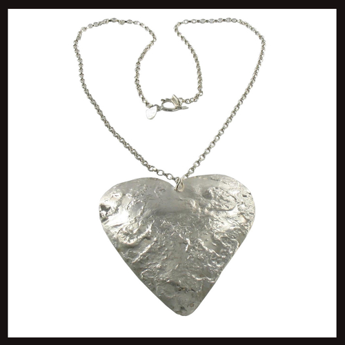 Large Textured Heart Pendant