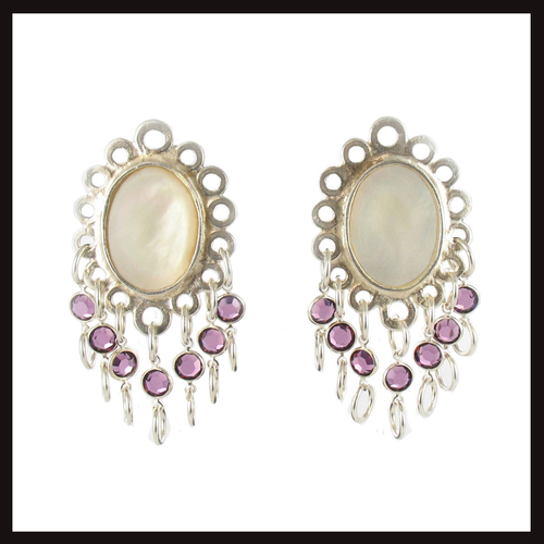East of Paris Fleur Crystal Drop Earrings