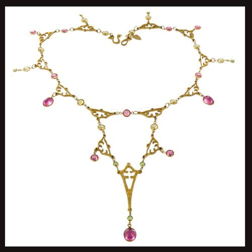 East of Paris Gold Eiffel Drop Necklace
