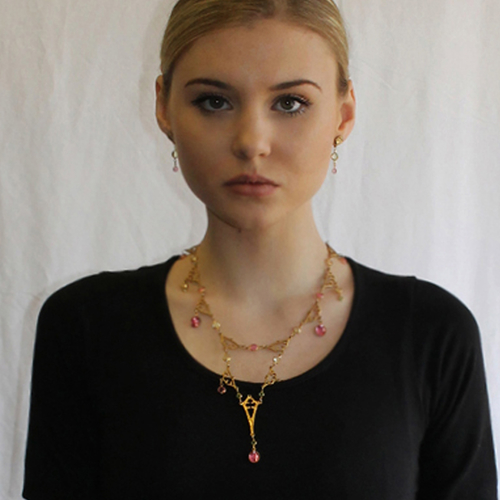 East of Paris Gold Eiffel Drop Necklace