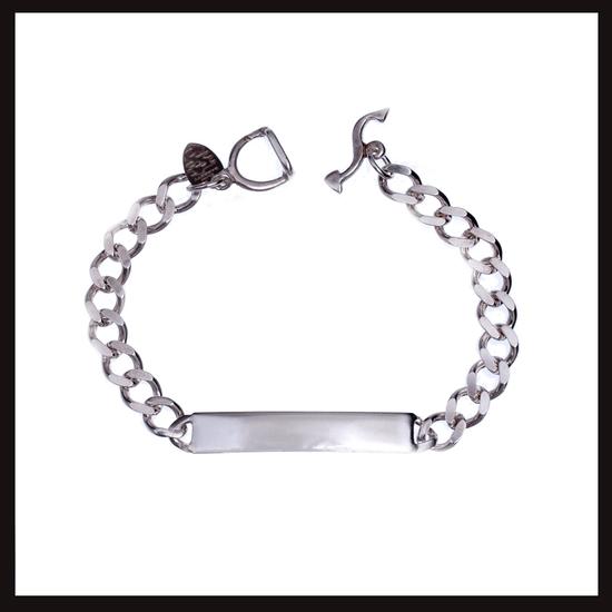 Slimlink Small Silver ID Bracelet