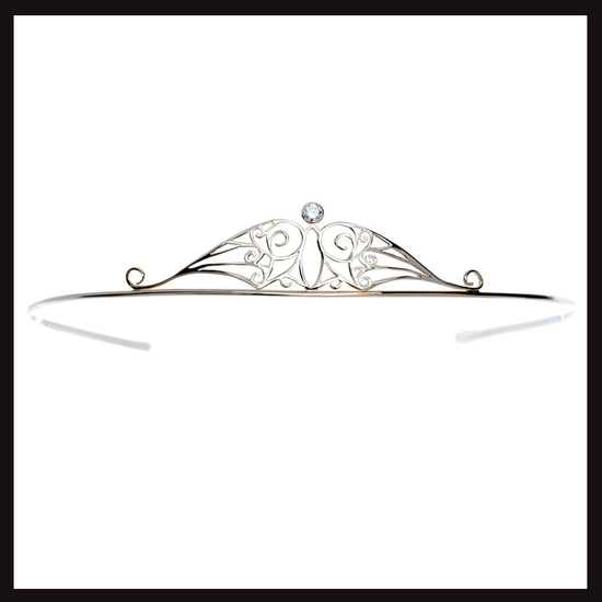 Celtic Nouveau Diamond and Gold Anu Tiara