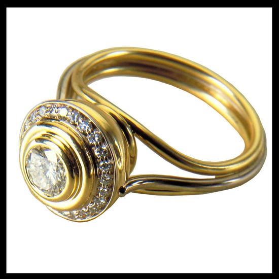 White Diamond Birth Ring