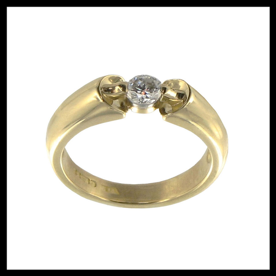 Sculpted Solitaire Diamond Ring