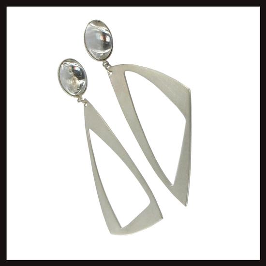 Triangle Drop Earrings Medium