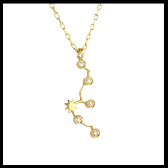 Gold Aquarius Diamond Necklace