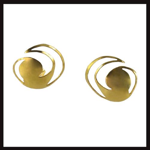 Celtic Nouveau Cut Swirl Earrings