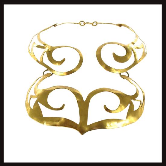 Celtic Nouveau Cut Swirl Necklace