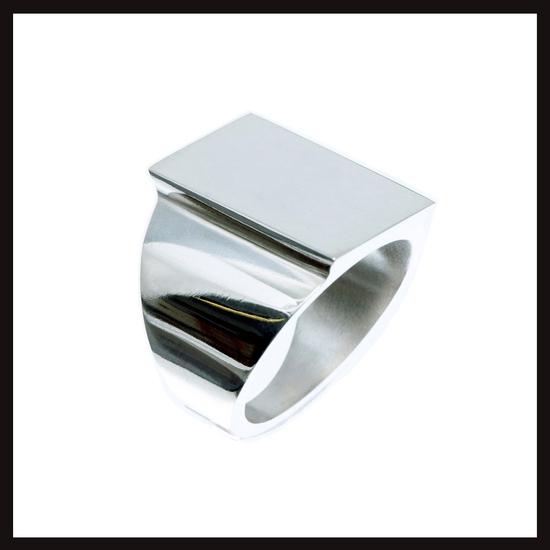 Celtic Nouveau Raised Silver Signet Ring