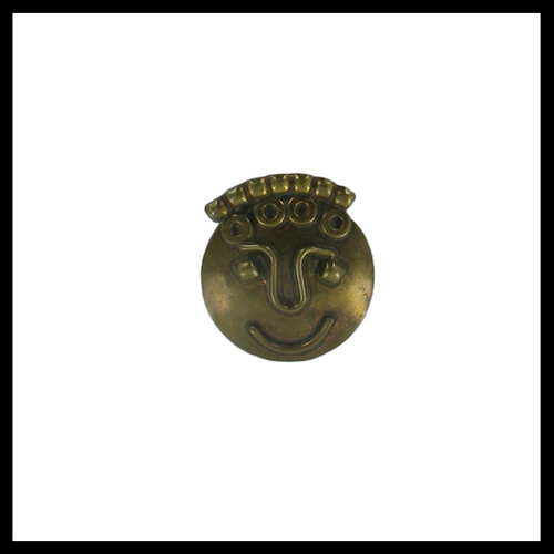 Bronze Funny Face Party Badge